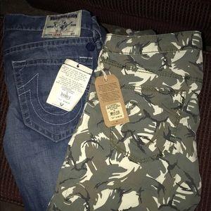 Skinny Jeans and Camo True Religion joggers
